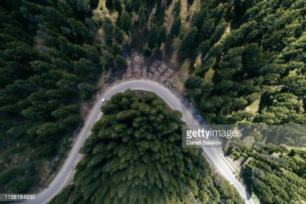 aerial road trip - sustainable development goals stock pictures, royalty-free photos & images