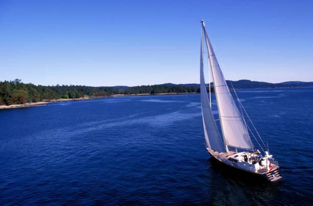 aerial sailboat sailing