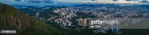 Aerial scene of Hong Kong