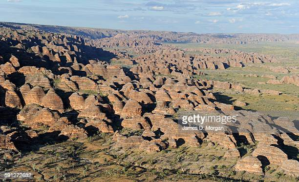 Aerial Scenes of Bungle Bungles in Purnululu National Park on August 11th 2016 in Western Australia