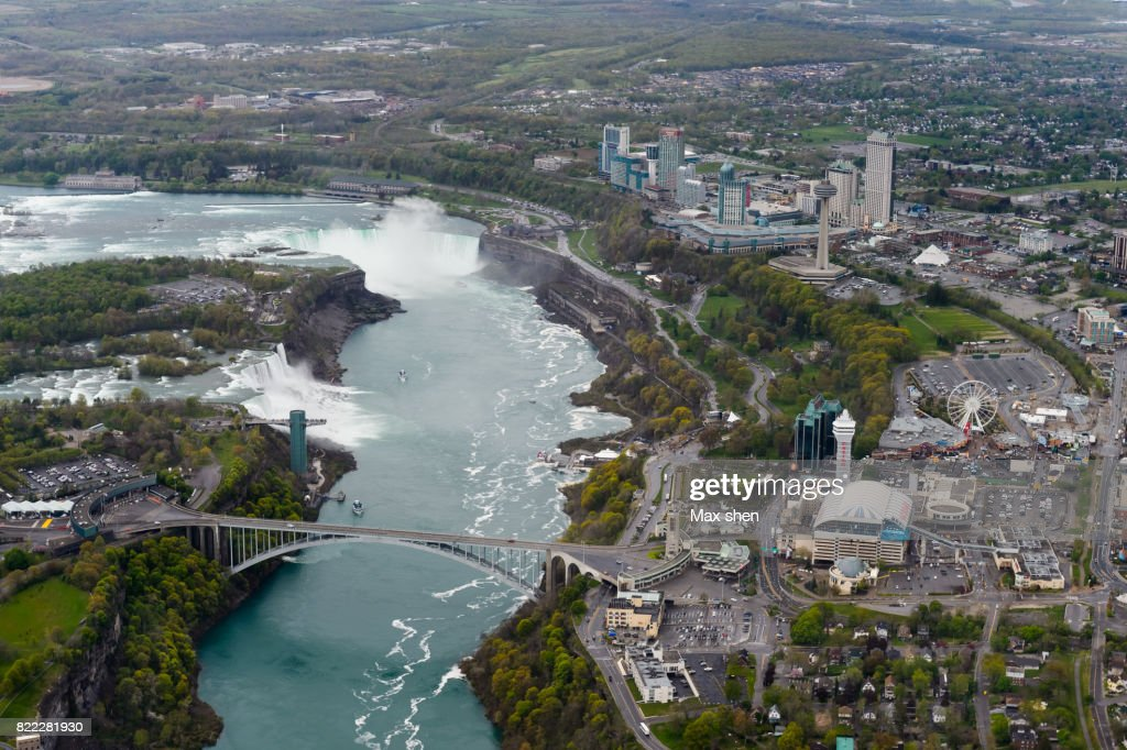 Aerial scenic of the Niagara Falls city : Stock Photo