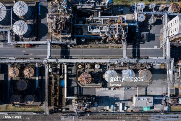 aerial shooting of an power station. - power station stock pictures, royalty-free photos & images