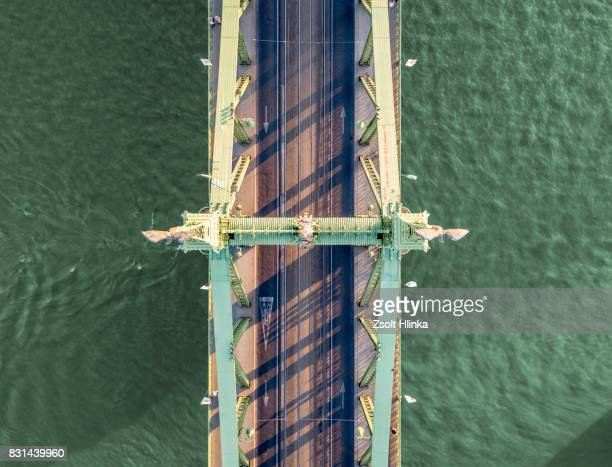 Aerial shot from the Libery bridge - Budapest