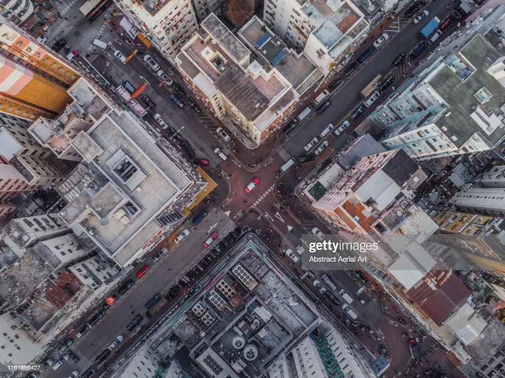Aerial shot in Kowloon, Hong Kong : Stock Photo