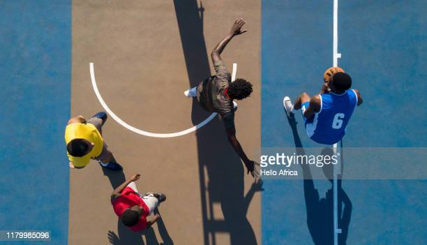 aerial shot of basketball - athlete stock pictures, royalty-free photos & images