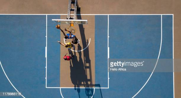 aerial shot of basketball - competition group stock pictures, royalty-free photos & images