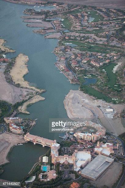 Aerial Shot of Casino MonteLago in Lake Las Vegas