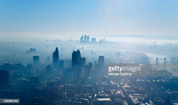 Aerial shot of City of London