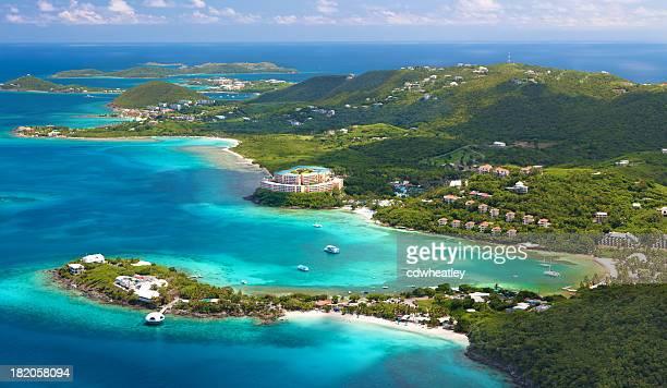 空中ショットの coki ポイント、セントトーマス、アメリカ領バージン諸島 - バージン諸島 ストックフォトと画像