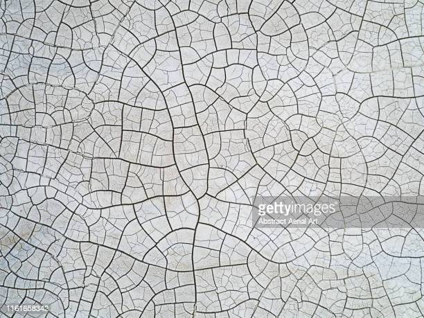 aerial shot of cracked landscape, united kingdom - climate change stock pictures, royalty-free photos & images