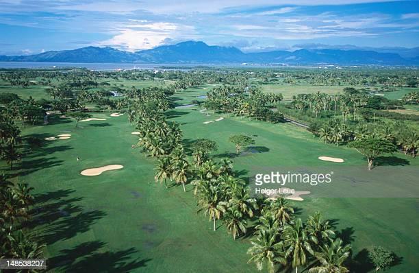 Aerial shot of Denarau golf course, near Nadi.