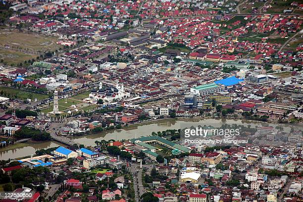 aerial shot of downtown - banda aceh stock pictures, royalty-free photos & images