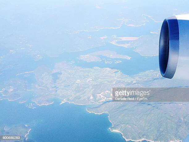 aerial shot of landscape - danielle reid stock pictures, royalty-free photos & images