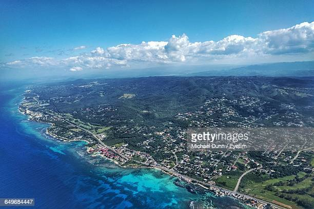 aerial shot of landscape - montego bay stock pictures, royalty-free photos & images