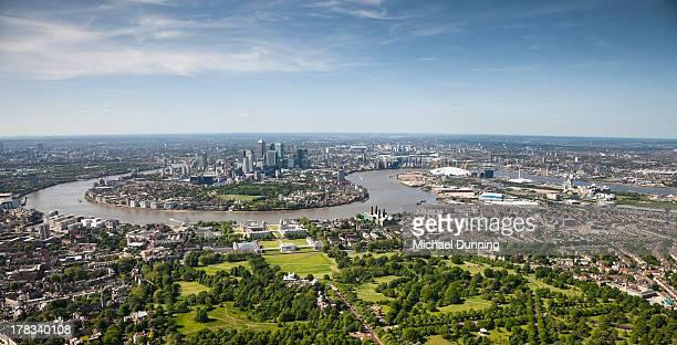 Aerial shot of London