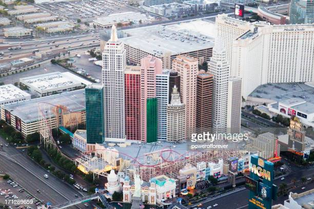 Aerial Shot of New York-New York Hotel and Casino Daytime