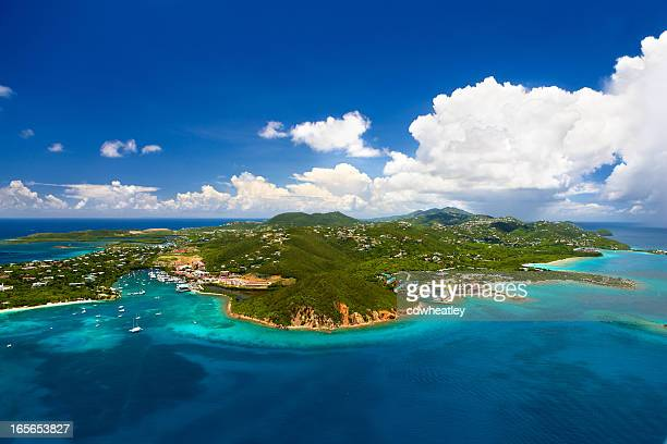 aerial shot of Red Hook, St. Thomas, US Virgin Islands