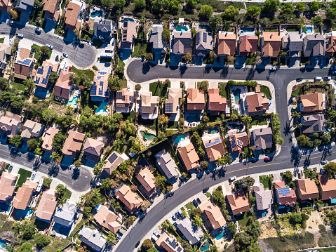 Aerial Shot of Suburban Development 875403094