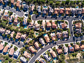 Aerial Shot of Suburban Development