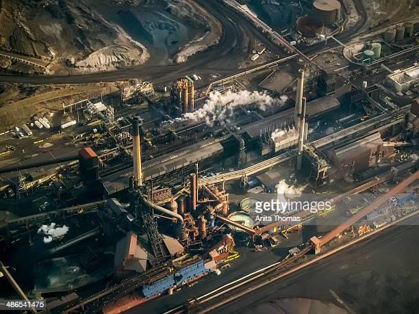 CONTENT] Aerial shot of US Steel in Hamilton Ontario Canada