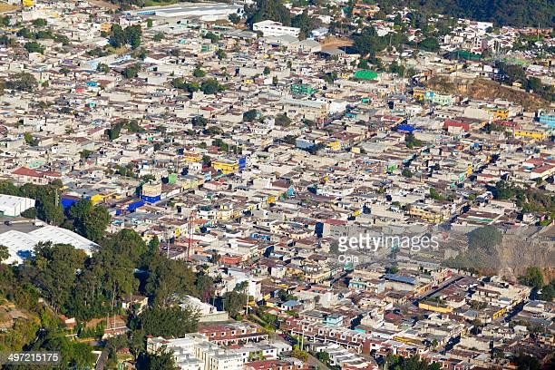 aerial shot of zona 13, guatemala city, guatemala. - guatemala city stock pictures, royalty-free photos & images