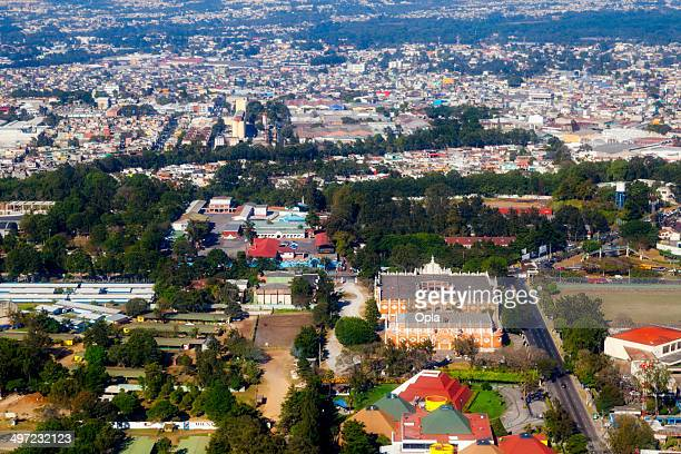 aerial shot of zona 13, guatemala city, guatemala. - guatemala city stock pictures, royalty-free photos & images