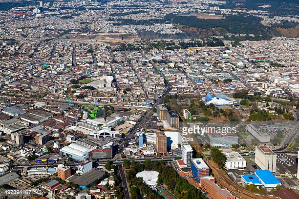 aerial shot of zona 2, guatemala city, guatemala. - guatemala city stock pictures, royalty-free photos & images