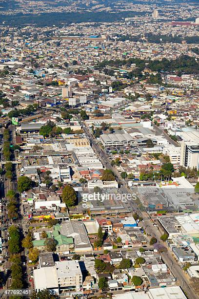 aerial shot of zona 8, guatemala city, guatemala. - guatemala city stock pictures, royalty-free photos & images