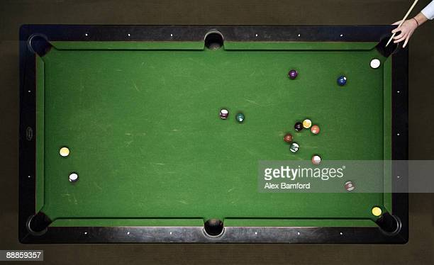 Aerial shot pool table
