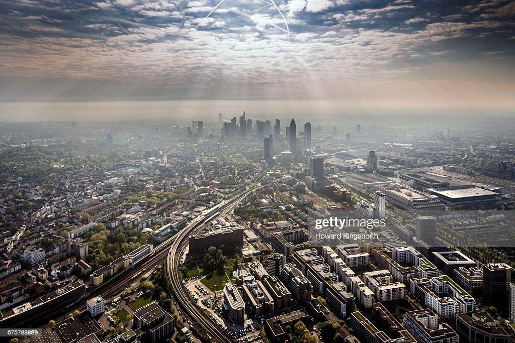Aerial Shots of Frankfurt, Germany : Foto de stock