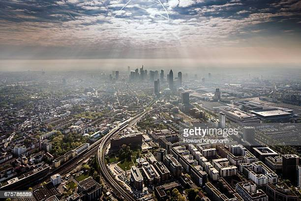 Aerial Shots of Frankfurt, Germany