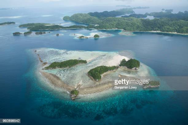 Aerial shots of the Rock Islands in Palau on August 26, 2015.