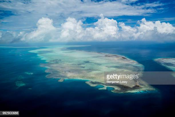 Aerial shots of the Rock Islands in Palau on August 26 2015