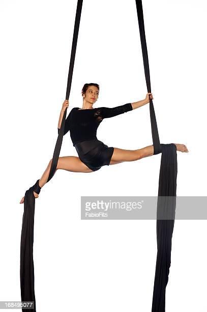 aerial silks - fabio filzi stock photos and pictures