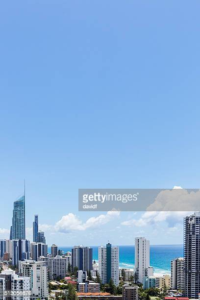 Aerial Skyline of the Gold Coast and Beach, Queensland, Australia