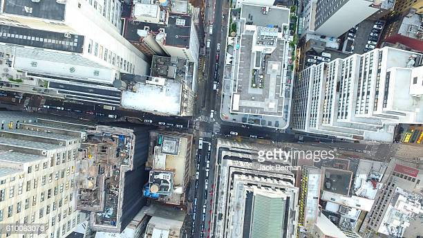nyc aerial skyline - rebuilding stock pictures, royalty-free photos & images