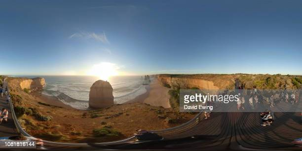 360 VR Aerial Still shot of the Twelve Apostles, Victoria Australia