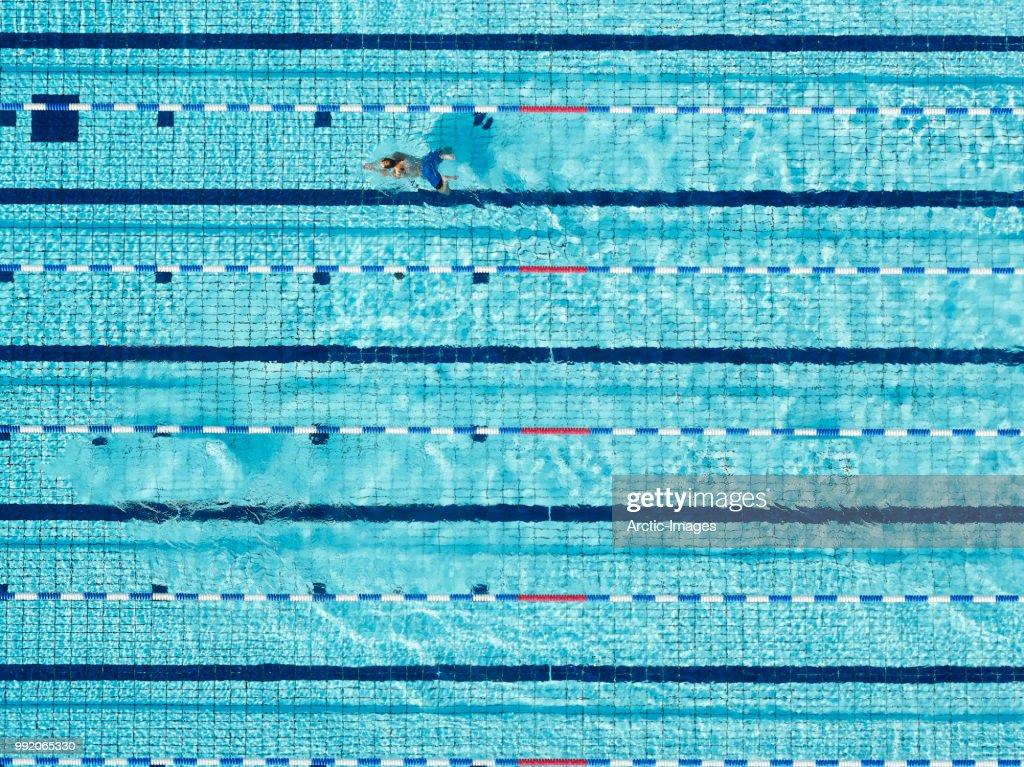 Aerial - Swimming Pool : ストックフォト