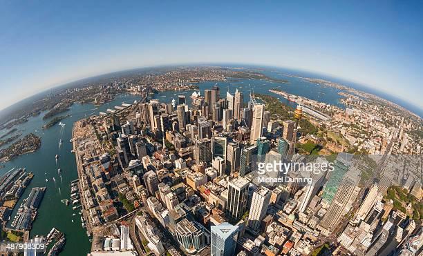 Aerial Sydney Harbour, Australia