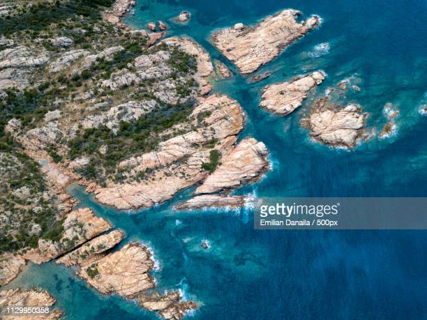 aerial the maddalena islands - archipelago stock pictures, royalty-free photos & images