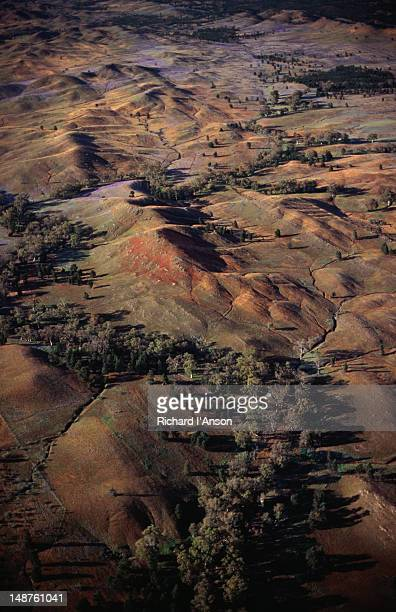Aerial topographical view of the Flinders Ranges National Park.