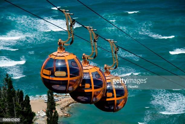 Aerial tram above Haifa