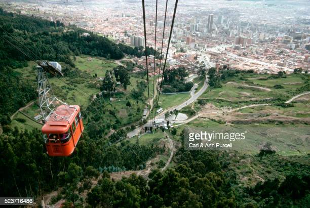 Aerial Trams up Bogota Hill