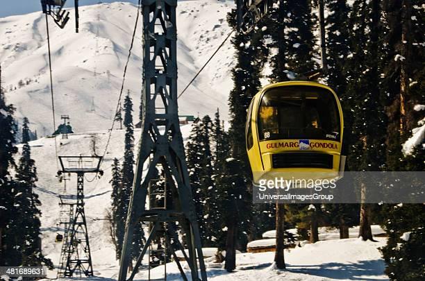 Aerial tramway in winter Gulmarg Jammu And Kashmir India