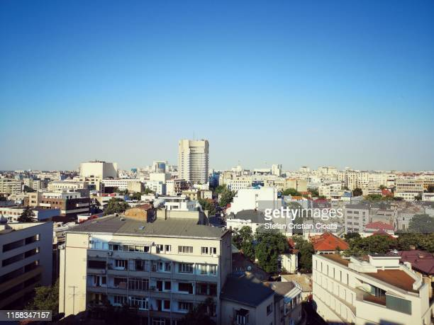 aerial urban view of bucharest city romania - bucharest stock pictures, royalty-free photos & images