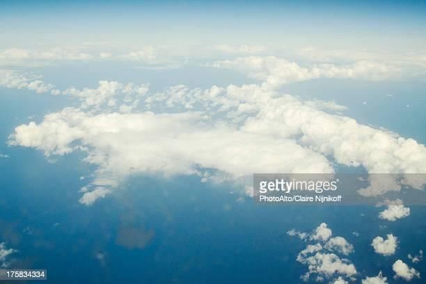 Aerial view aboard a passenger aircraft