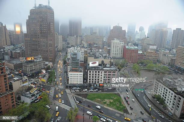 Aerial view around the 2008 Tribeca Film Festival on April 28, 2008 in New York City.