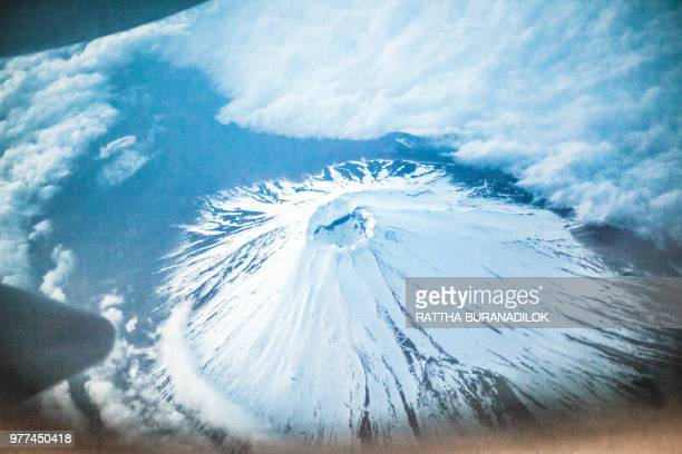 Aerial view at Mount Fuji, Japan