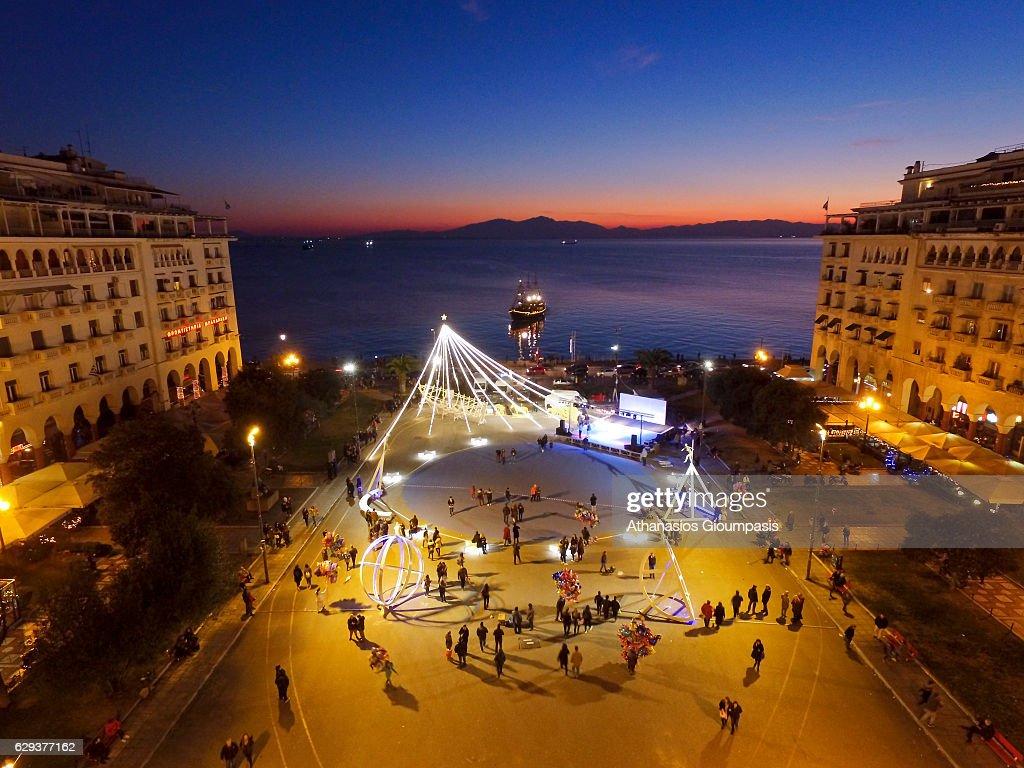 Thessaloniki Viewed From The Air : Nachrichtenfoto