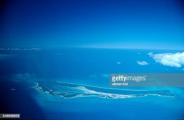 Aerial view Bahamas island Bahamas Caribbean Sea